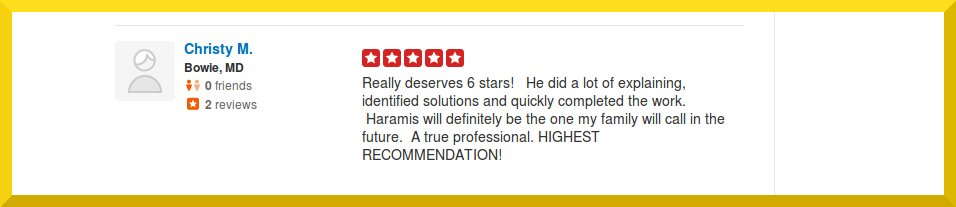Crofton Electrician Reviews