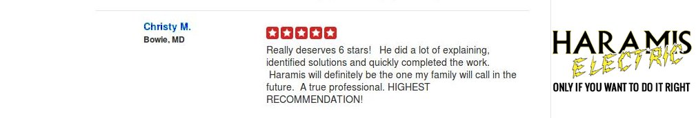 Crofton Electrician Review Haramis