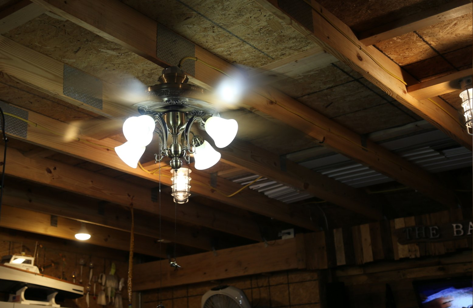Garage Ceiling fan and Light combo