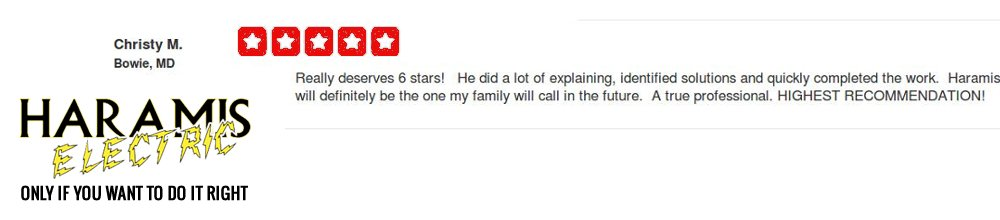 Bowie Electrician Haramis Reviews