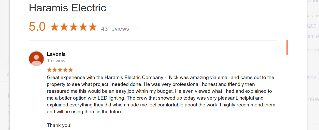 Electricians Crofton Bowie Haramis Reviews