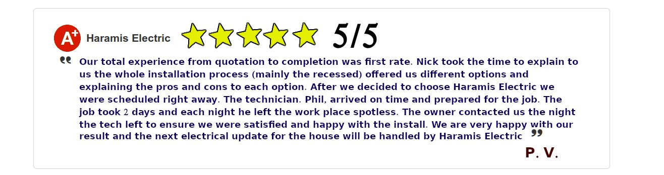 Severna Park Electrician Reviews