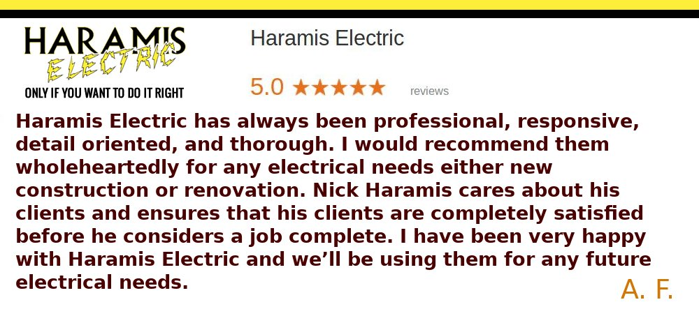 Arnold Electricians Reviews Haramis